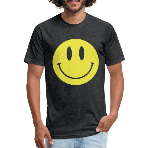 Smiley - Fitted Cotton/Poly T-Shirt by Next Level