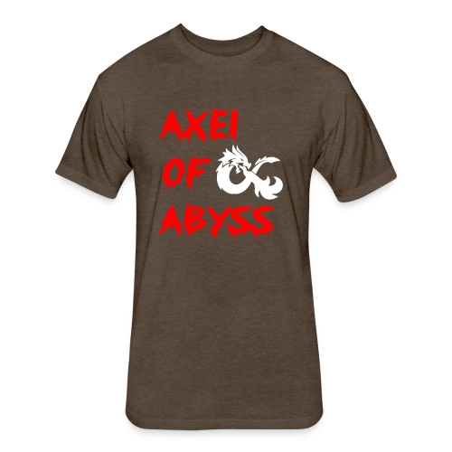Axelofabyss dragon shirt - Fitted Cotton/Poly T-Shirt by Next Level