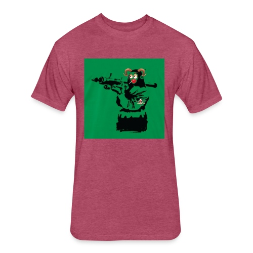 Baskey mona lisa - Fitted Cotton/Poly T-Shirt by Next Level