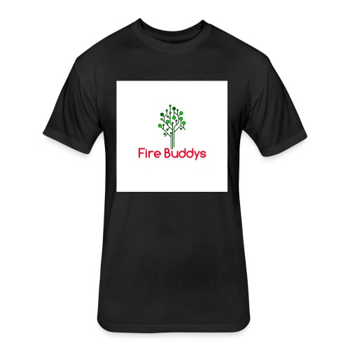 Fire Buddys Website Logo White Tee-shirt eco - Fitted Cotton/Poly T-Shirt by Next Level