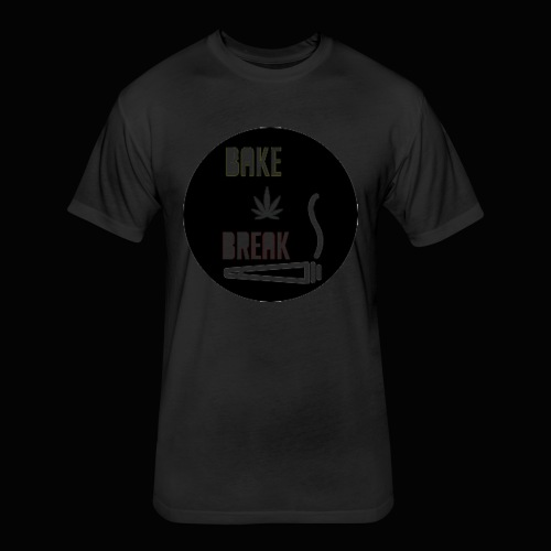 Bake Break Logo Cutout - Fitted Cotton/Poly T-Shirt by Next Level