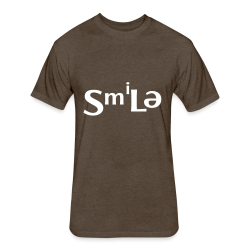 Smile Abstract Design - Fitted Cotton/Poly T-Shirt by Next Level