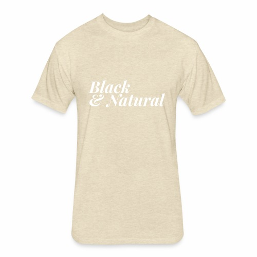 Black & Natural Women's - Fitted Cotton/Poly T-Shirt by Next Level