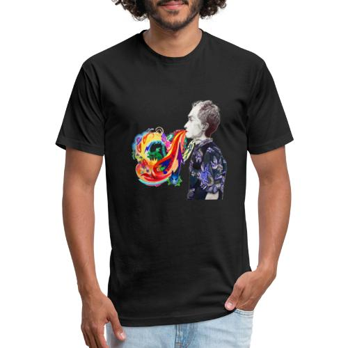 Breathe Cover Art - Fitted Cotton/Poly T-Shirt by Next Level