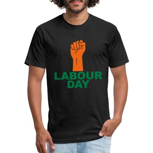 Labour day / Fist / 2c - Fitted Cotton/Poly T-Shirt by Next Level