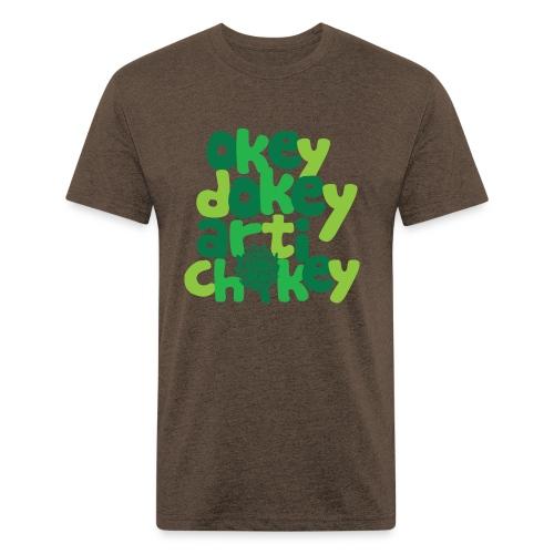 Okey Dokey Artichokey - Fitted Cotton/Poly T-Shirt by Next Level