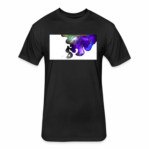 design 5 - Fitted Cotton/Poly T-Shirt by Next Level