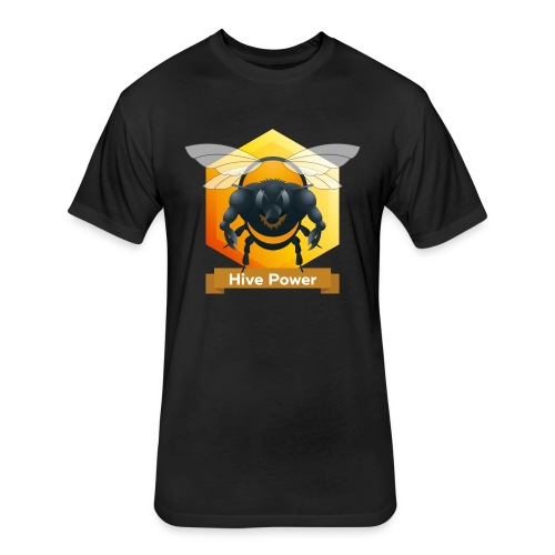 Hive Power - Fitted Cotton/Poly T-Shirt by Next Level