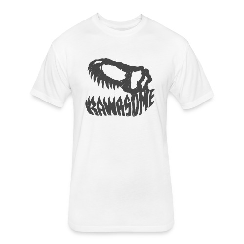 RAWRsome T Rex Skull by Beanie Draws - Fitted Cotton/Poly T-Shirt by Next Level