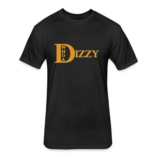 Whoa Dizzy Halloween Colors - Fitted Cotton/Poly T-Shirt by Next Level