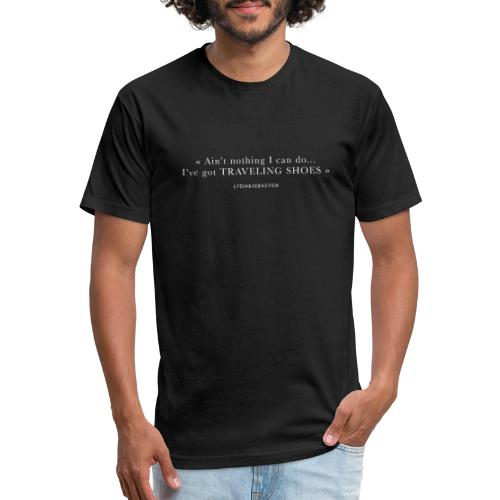 Traveling Shoes - Fitted Cotton/Poly T-Shirt by Next Level