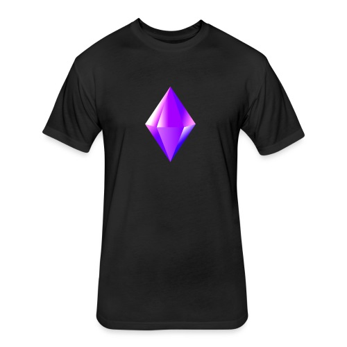 Crystal clear Heart - Fitted Cotton/Poly T-Shirt by Next Level