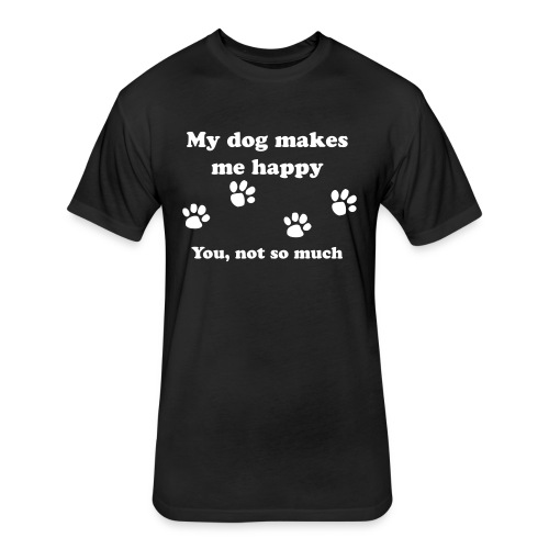 dog_happy - Fitted Cotton/Poly T-Shirt by Next Level