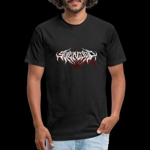 Supercool! Logo REVAMPIRED [BLOODY WHITE] - Fitted Cotton/Poly T-Shirt by Next Level