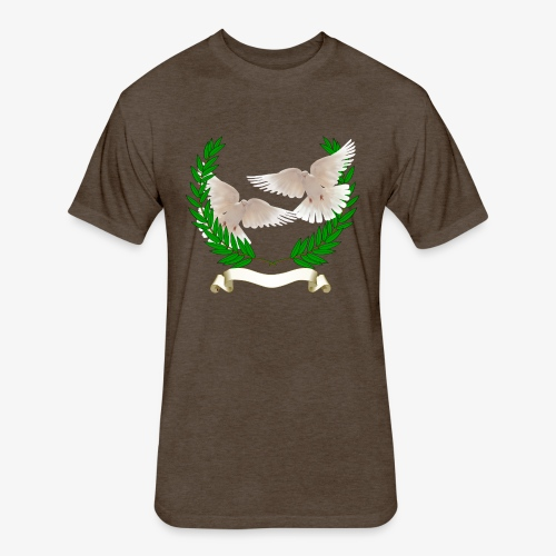 OLIVE BRANCH DOVES - Fitted Cotton/Poly T-Shirt by Next Level