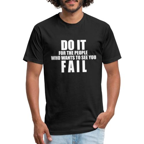 FAIL - Fitted Cotton/Poly T-Shirt by Next Level