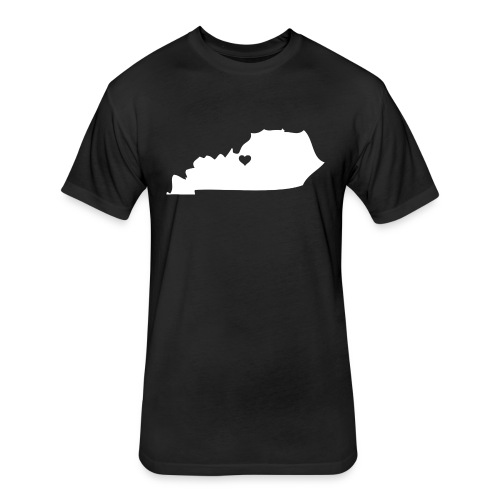 Kentucky Silhouette Heart - Fitted Cotton/Poly T-Shirt by Next Level