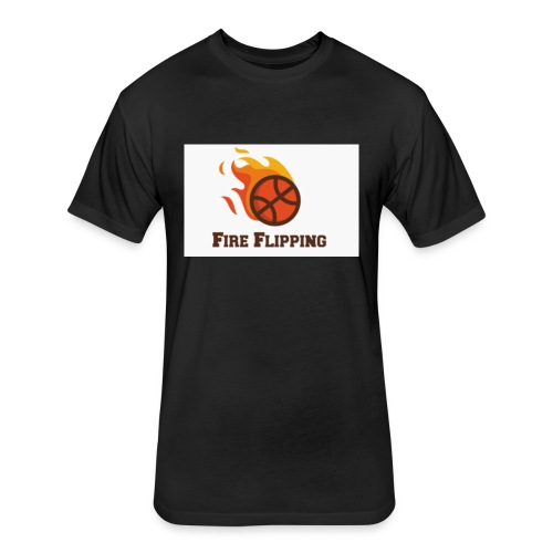 Fire hoodie - Fitted Cotton/Poly T-Shirt by Next Level