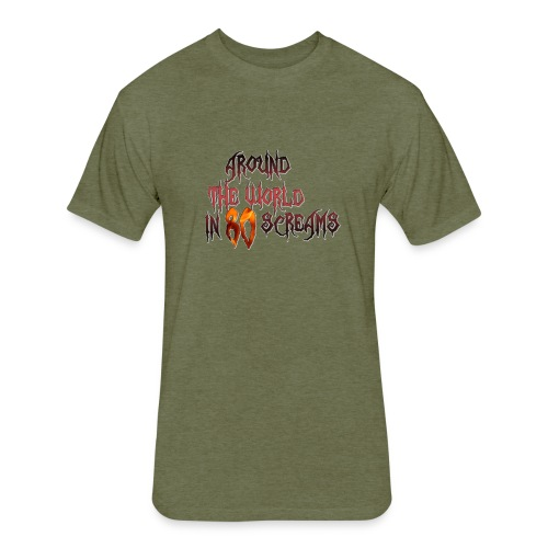 Around The World in 80 Screams - Fitted Cotton/Poly T-Shirt by Next Level
