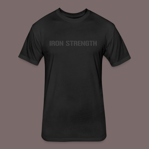 Grey Iron Strength - Fitted Cotton/Poly T-Shirt by Next Level