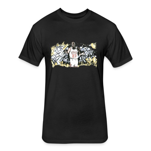 MJ - Fitted Cotton/Poly T-Shirt by Next Level