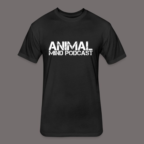 Animal Mind Podcast Stencil Logo - Fitted Cotton/Poly T-Shirt by Next Level