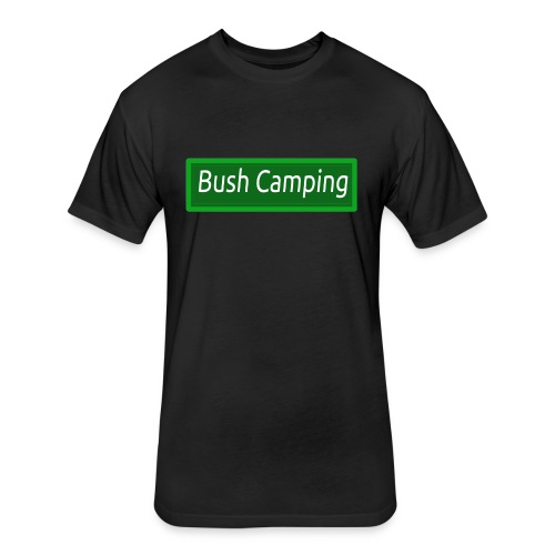Bush Camping - Fitted Cotton/Poly T-Shirt by Next Level