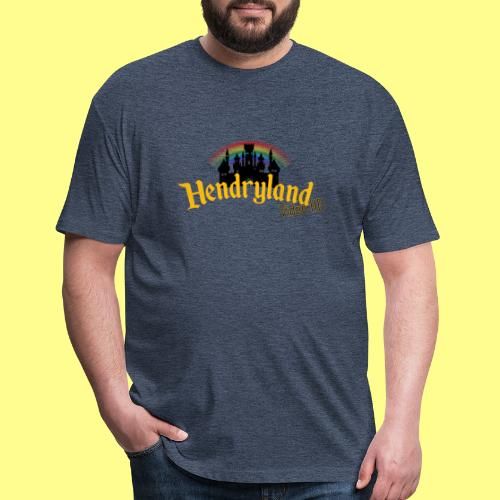 HENDRYLAND logo Merch - Fitted Cotton/Poly T-Shirt by Next Level