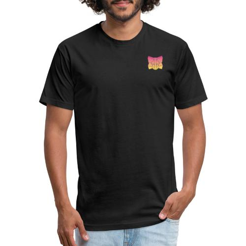 Sunset Fox - Fitted Cotton/Poly T-Shirt by Next Level