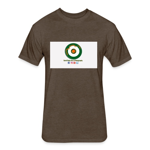 David Doyle Arts & Photography Logo - Fitted Cotton/Poly T-Shirt by Next Level