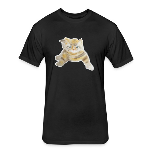 sad boy - Fitted Cotton/Poly T-Shirt by Next Level