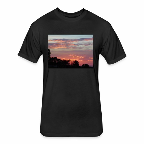Sunset of Pastels - Fitted Cotton/Poly T-Shirt by Next Level