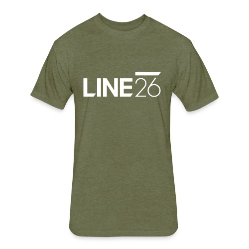 Line26 Logo (Light Version) - Fitted Cotton/Poly T-Shirt by Next Level