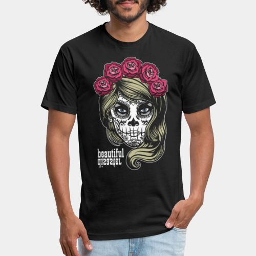 mexico celebrate death - Fitted Cotton/Poly T-Shirt by Next Level