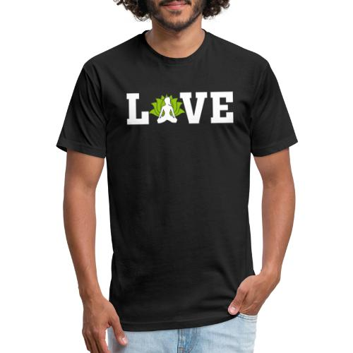 Love - Fitted Cotton/Poly T-Shirt by Next Level