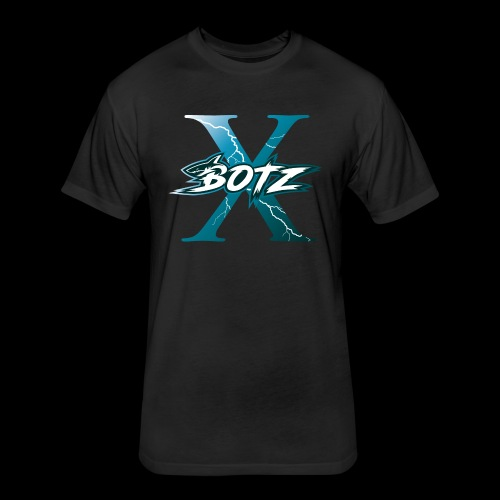 BOTZ X Logo Plain - Fitted Cotton/Poly T-Shirt by Next Level