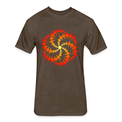 Crop circle - Fitted Cotton/Poly T-Shirt by Next Level