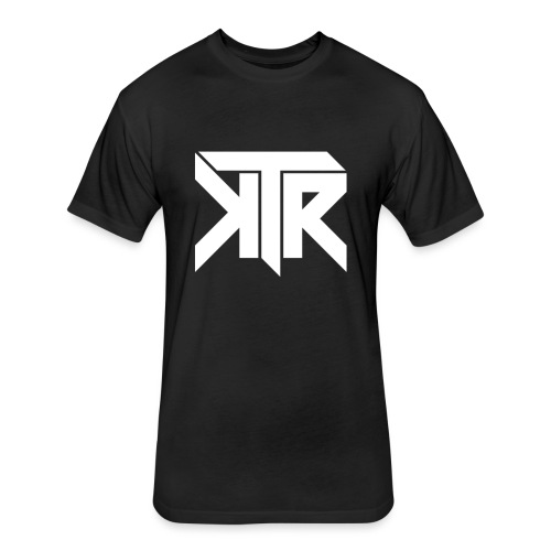 KTR Logo White - Fitted Cotton/Poly T-Shirt by Next Level