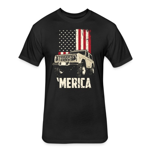 Bronco 'Merica Truck - Fitted Cotton/Poly T-Shirt by Next Level