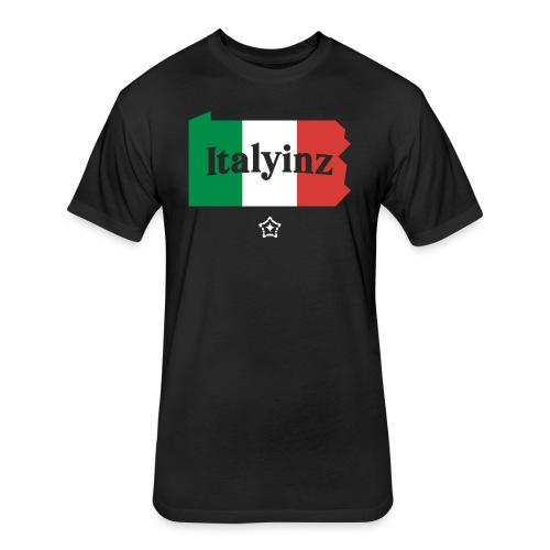 Italyinz_ - Fitted Cotton/Poly T-Shirt by Next Level