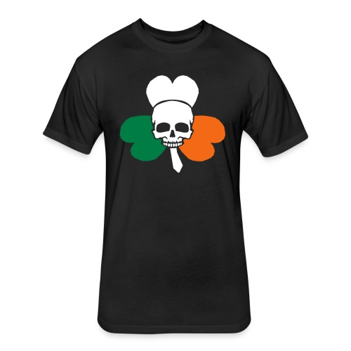irish_skull_shamrock - Fitted Cotton/Poly T-Shirt by Next Level