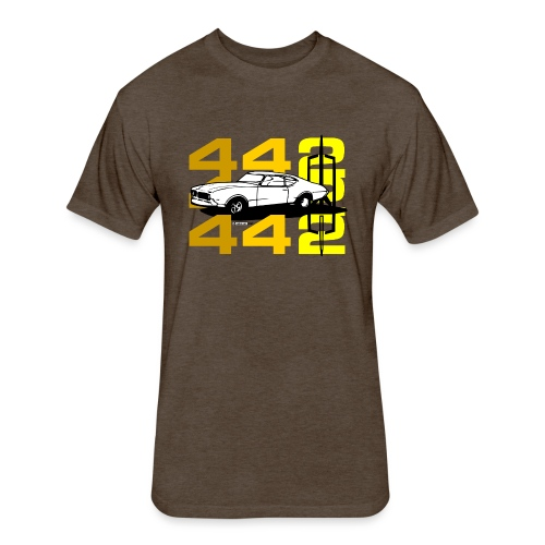 auto_oldsmobile_442_002a - Fitted Cotton/Poly T-Shirt by Next Level