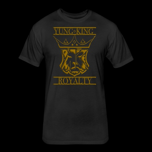 YKRCRESTGOLD - Fitted Cotton/Poly T-Shirt by Next Level