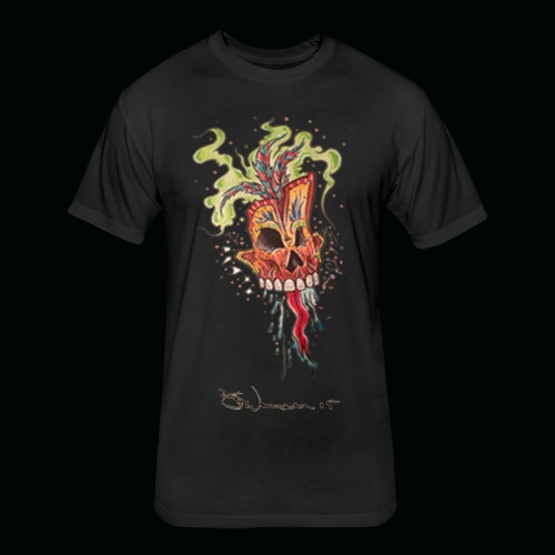 voodoo png - Fitted Cotton/Poly T-Shirt by Next Level