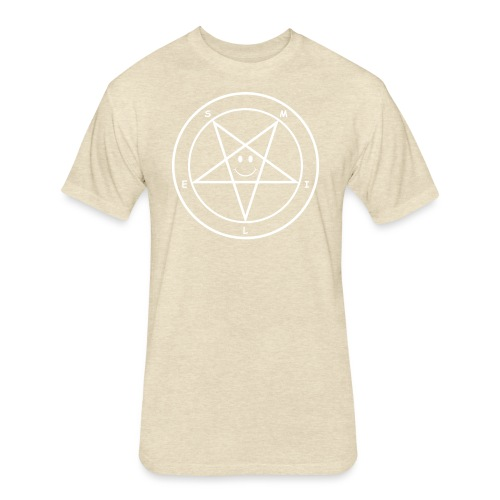 Smile Pentagram - Fitted Cotton/Poly T-Shirt by Next Level