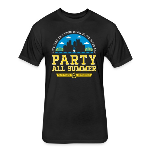 party all summer - Fitted Cotton/Poly T-Shirt by Next Level