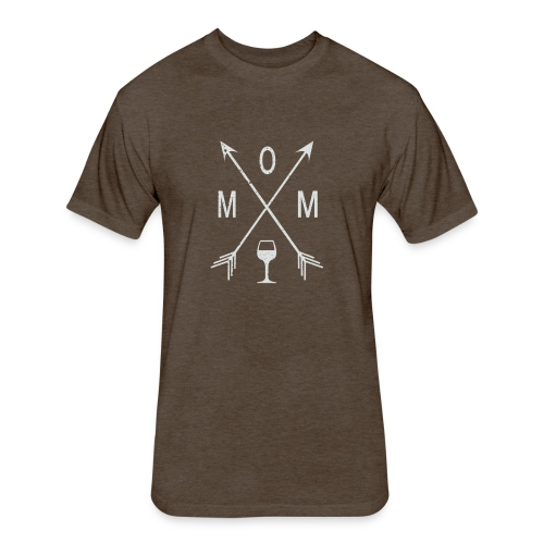 Mom Wine Time - Fitted Cotton/Poly T-Shirt by Next Level