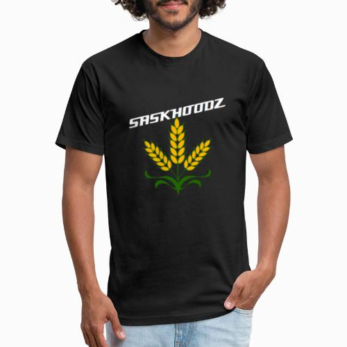 saskhoodz wheat - Fitted Cotton/Poly T-Shirt by Next Level