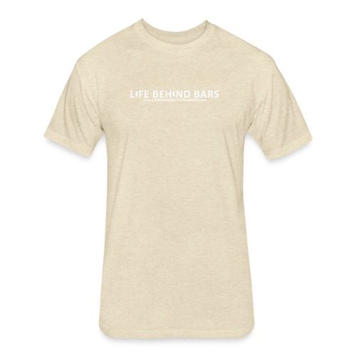 Life Behind Bars Logo - Fitted Cotton/Poly T-Shirt by Next Level