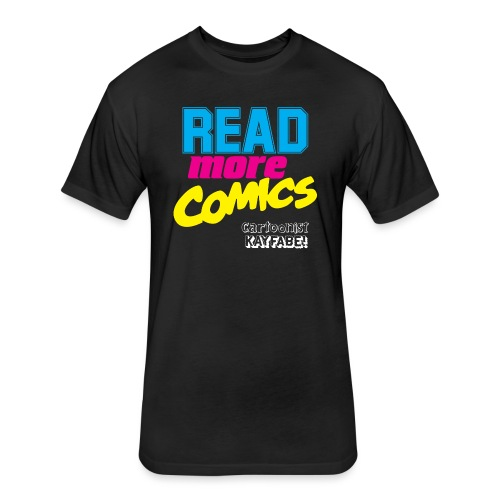 Read More Comics (Dark Shirt design) - Fitted Cotton/Poly T-Shirt by Next Level